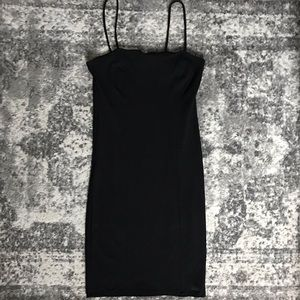 Straight Neck Mini Dress